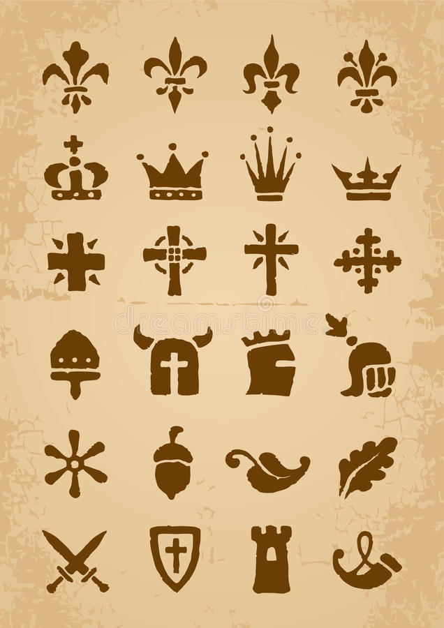Download Heraldic symbols stock vector. Image of horn, christianity - 24358956