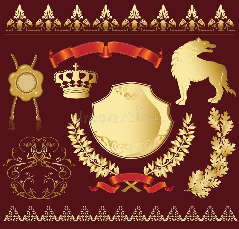 Heraldic_symbols ilustração royalty free