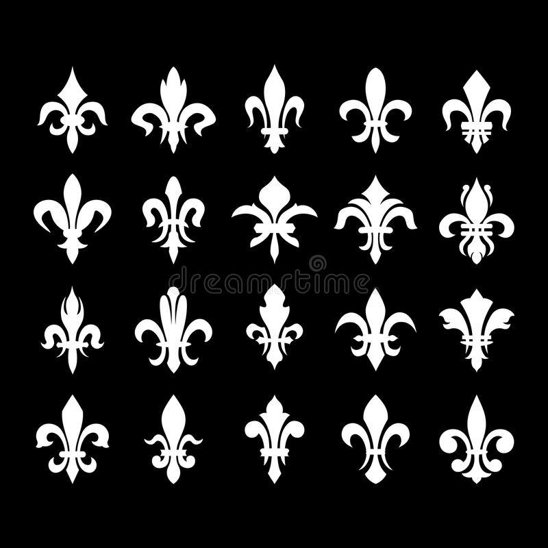 heraldic symbols fleur de lis stock vector illustration of emblem classic 35195882. Black Bedroom Furniture Sets. Home Design Ideas