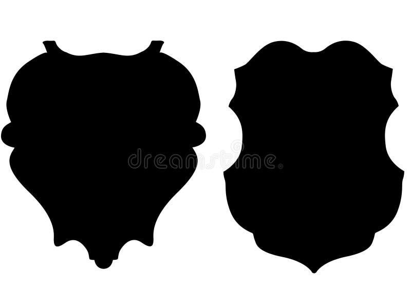 heraldiken skyddar silhouettes två arkivbild