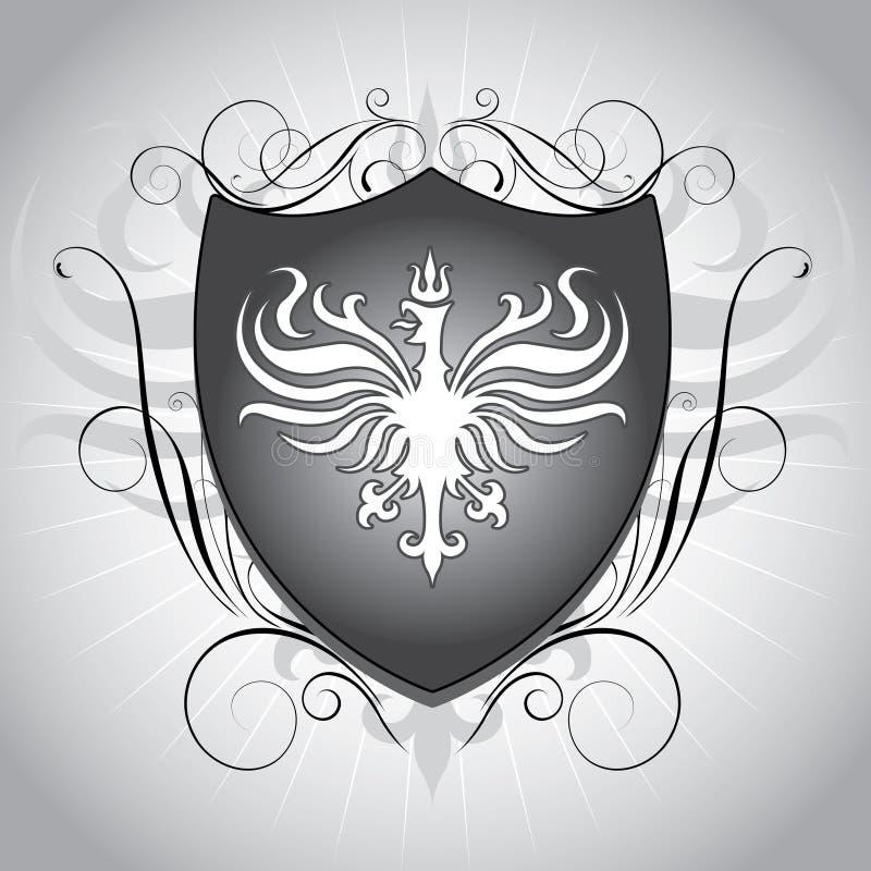 Heraldiksköld vektor illustrationer