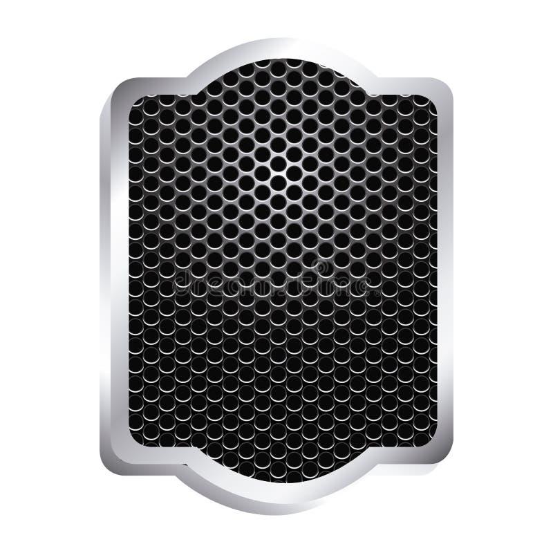 heraldisch decoratief kader met de grill geperforeerde hulp van het oppervlaktepictogram vector illustratie