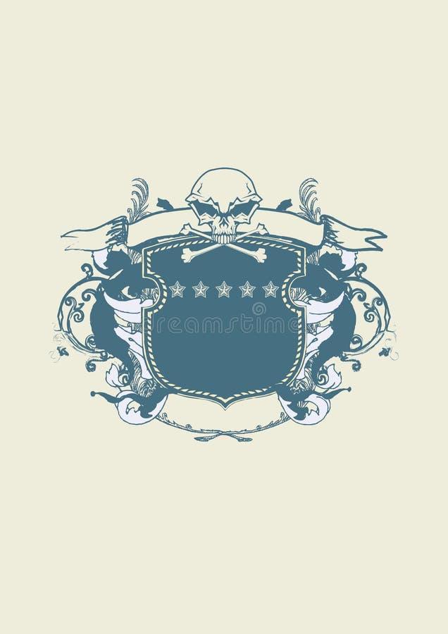 Heraldisch schild stock illustratie