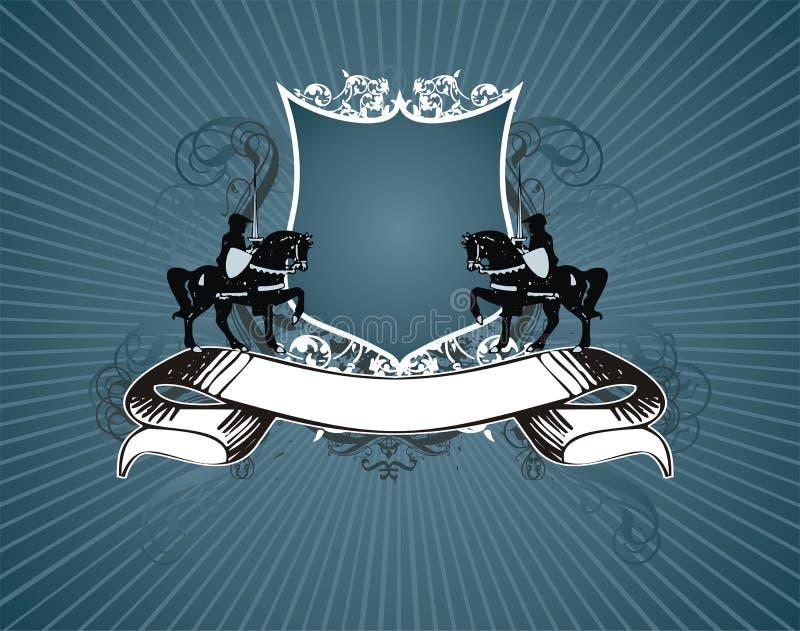 Heraldisch schild en banner vector illustratie