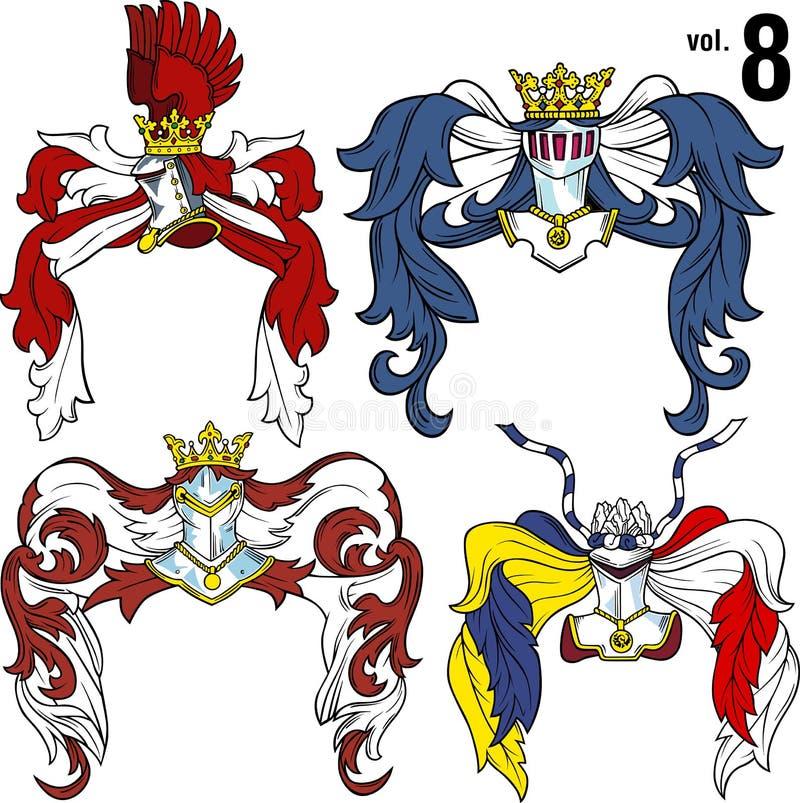Heraldische Helmen vol.8 vector illustratie