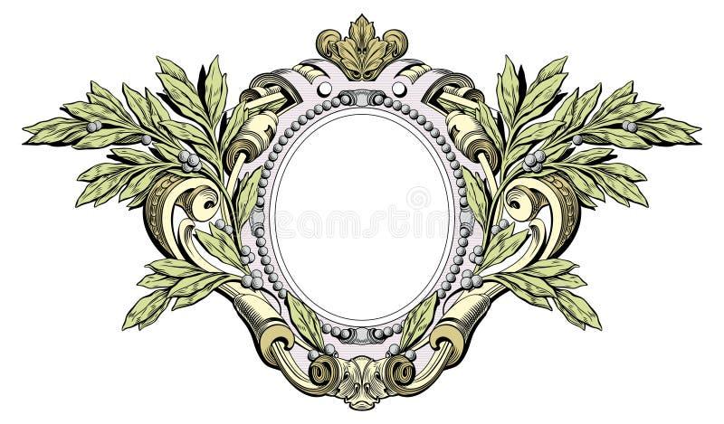 Heraldische kam royalty-vrije illustratie