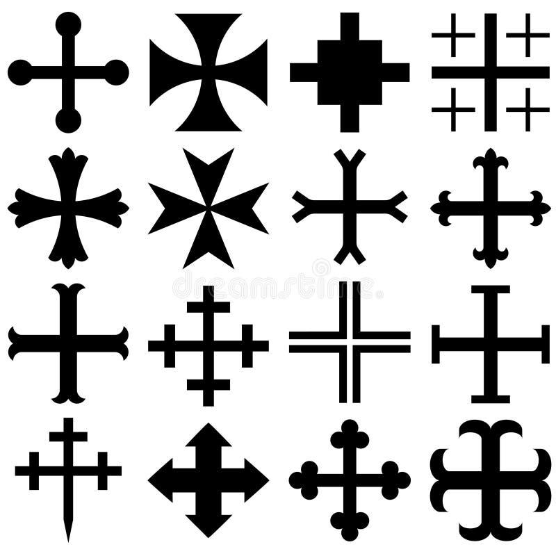 Heraldische kruisen stock illustratie