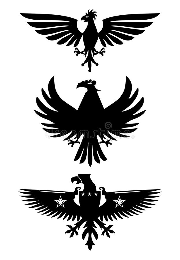 Heraldische vogels vector illustratie