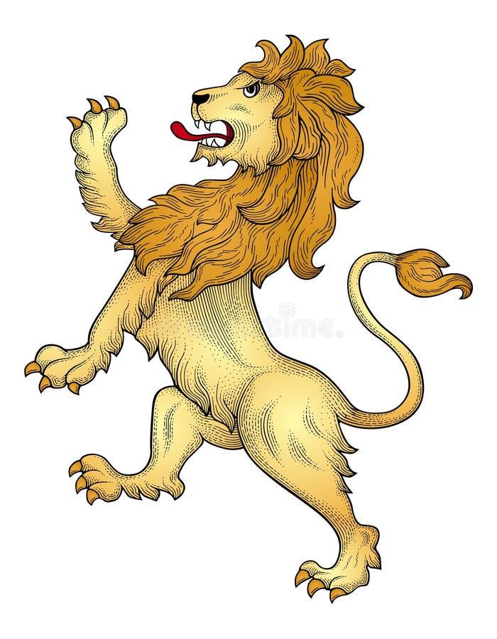 Heraldischer Löwevektor stock abbildung