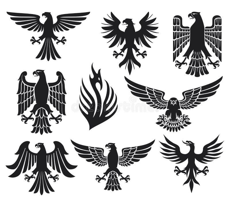 Heraldisches Adlerset vektor abbildung