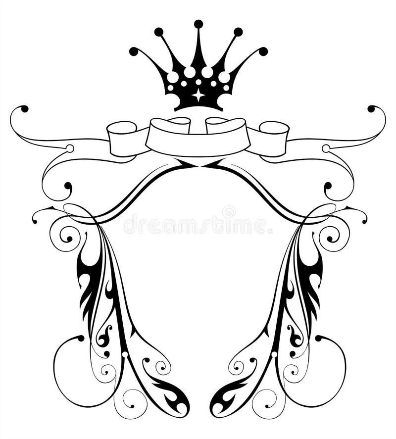 Heraldisches Emblem der Weinlese stock abbildung
