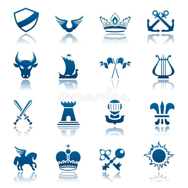 Heraldisches Ikonenset stock abbildung
