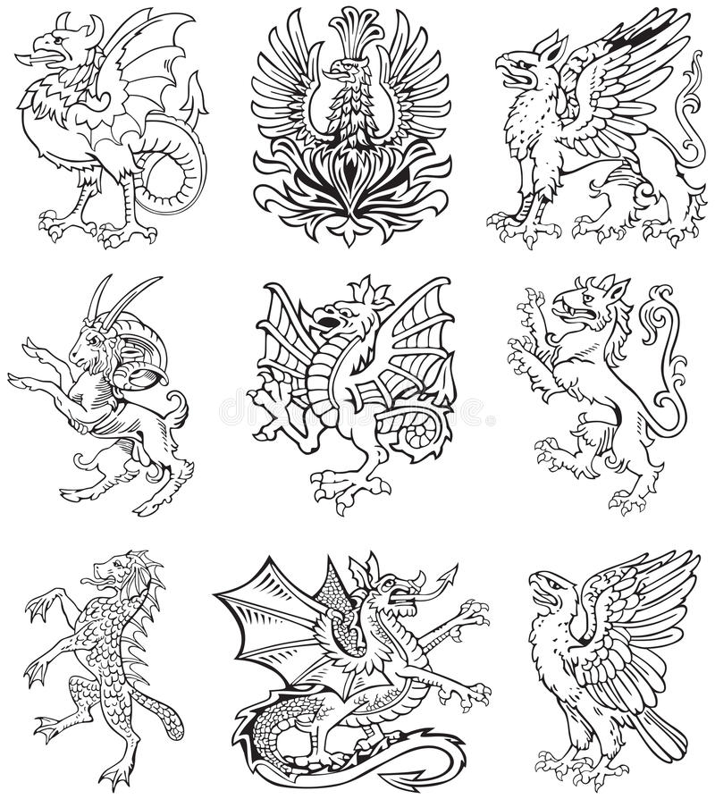 Heraldisches Monster Vol. II lizenzfreie abbildung
