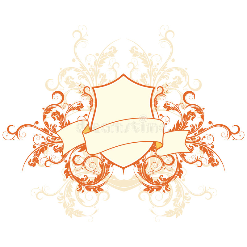 Heraldisches Schild lizenzfreie abbildung