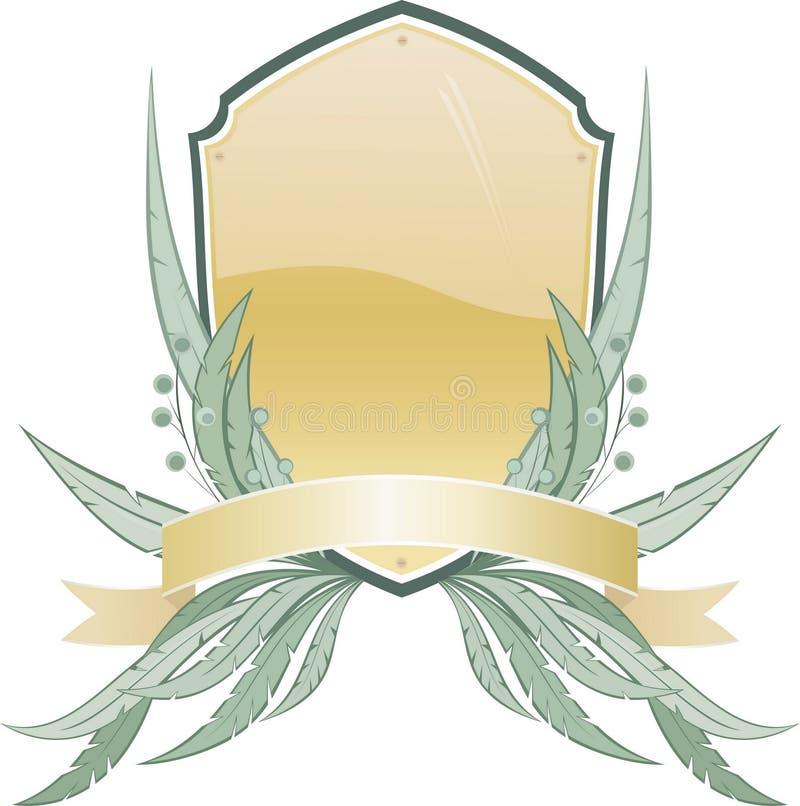 Heraldisches Schild mit Blumenelements.jpg vektor abbildung