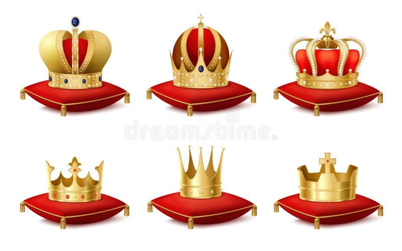 Heraldisk kronauppsättning royaltyfri illustrationer