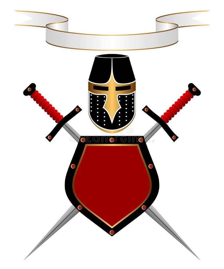 heraldisk sammansättning stock illustrationer