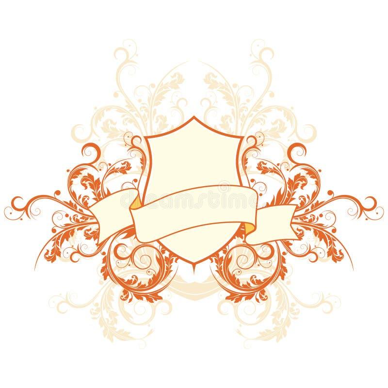 heraldisk sköld royaltyfri illustrationer