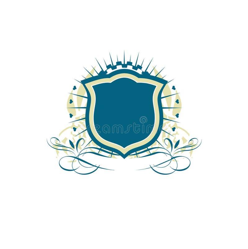 heraldisk sköld stock illustrationer