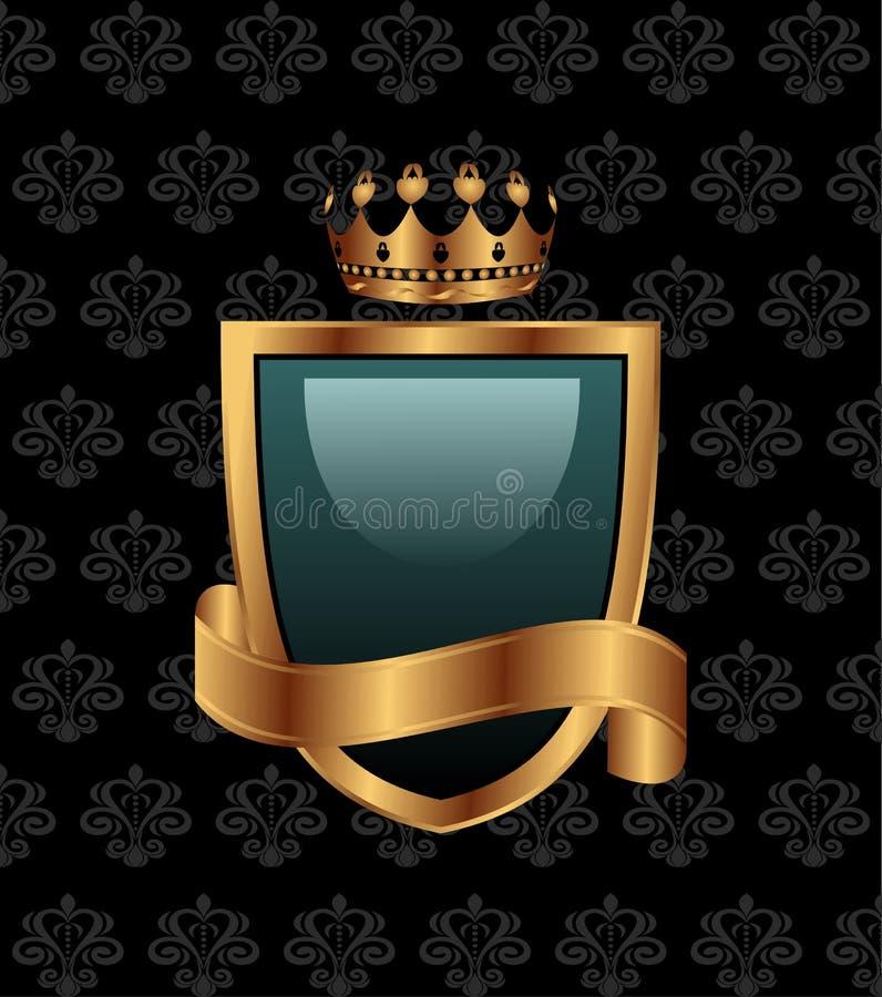 heraldisk tappning för element royaltyfri illustrationer