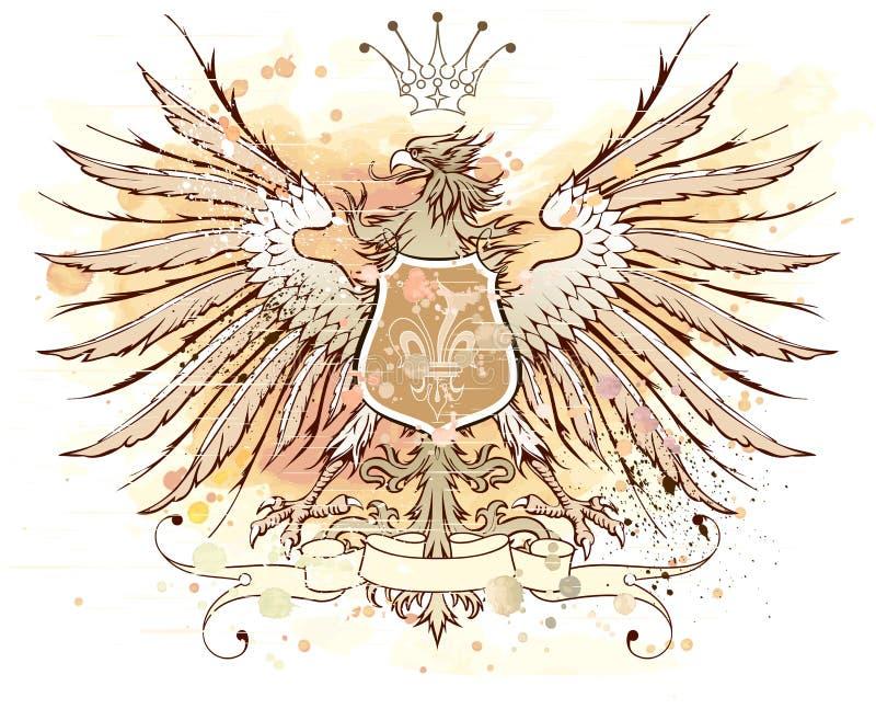 heraldisk tappning för emblem royaltyfri illustrationer