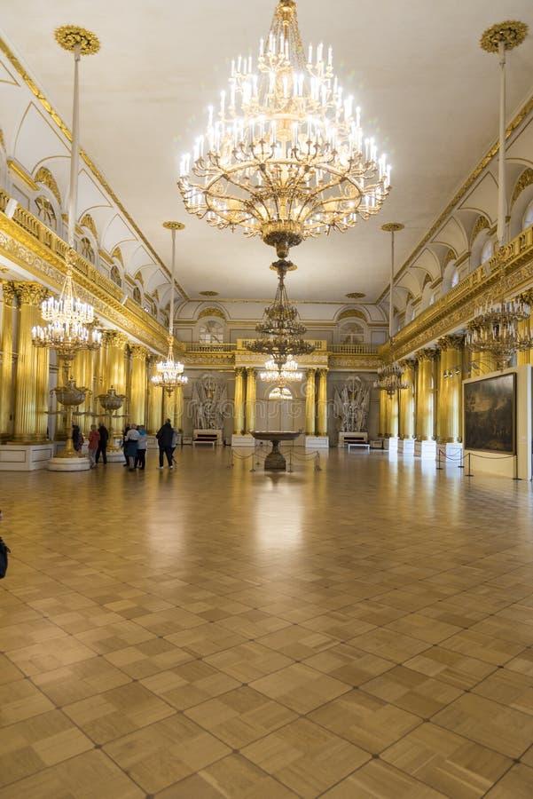 Heraldiska Hall The State Hermitage Museum St Petersburg Ryssland royaltyfri bild