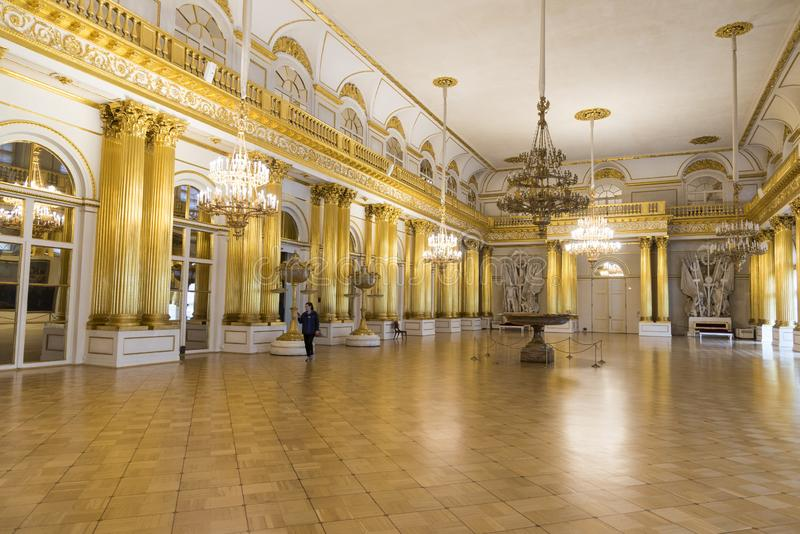 Heraldiska Hall The State Hermitage Museum St Petersburg Ryssland arkivbilder