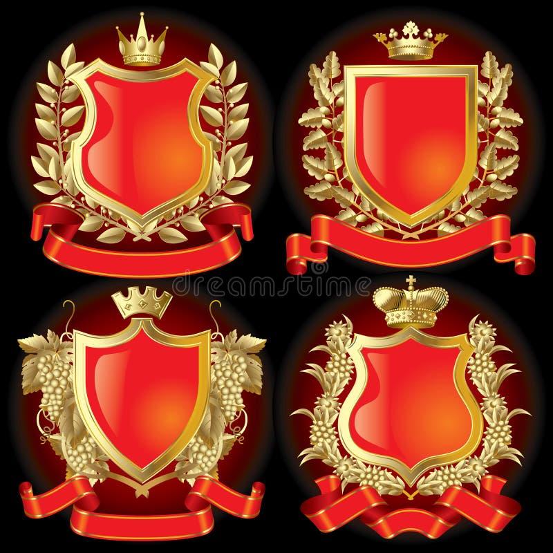 heraldiska symboler royaltyfri illustrationer