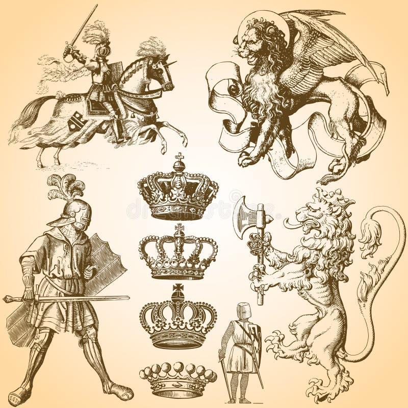 Heraldry Art Set 1 royalty free stock images