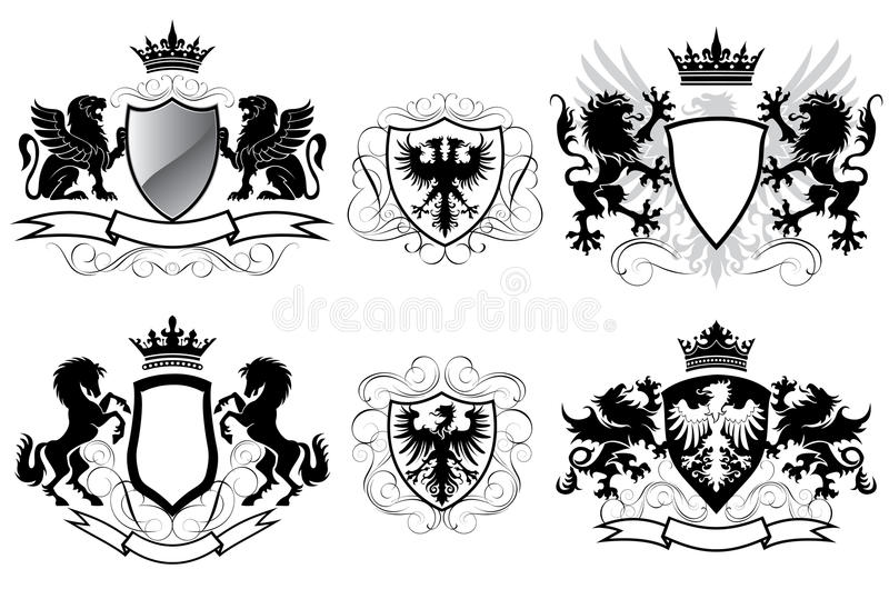 Heraldry coat of arms stock illustration