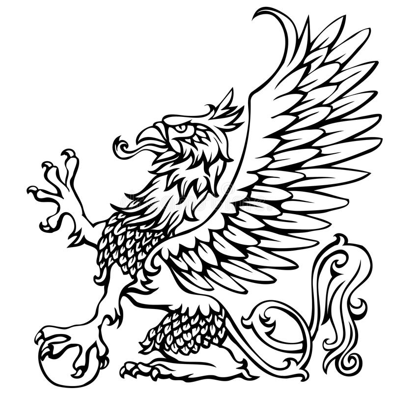 how to draw a coat of arms eagle