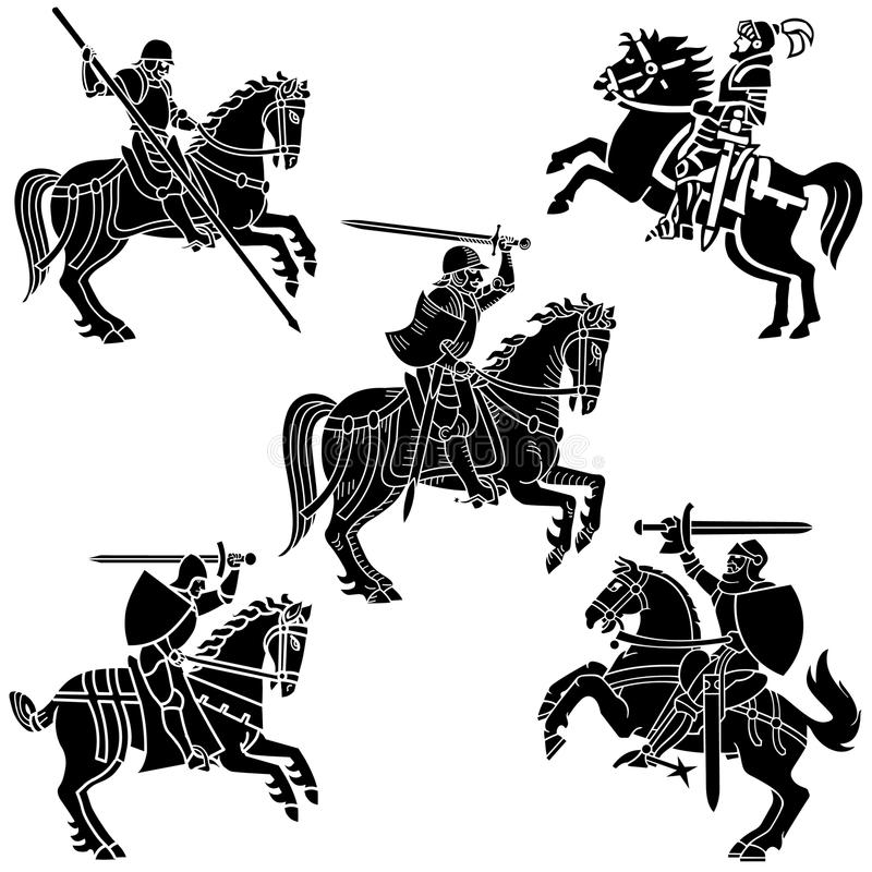 Heraldry Knights royalty free stock image
