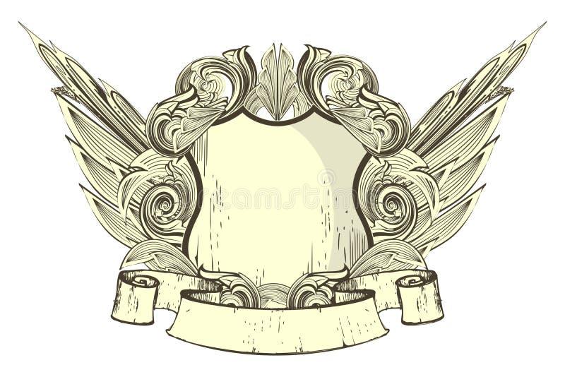 heraldyczna osłona ilustracja wektor