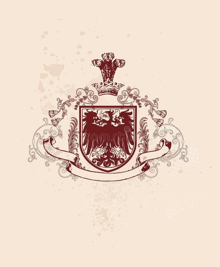 heraldyczna tarczy ilustracja wektor