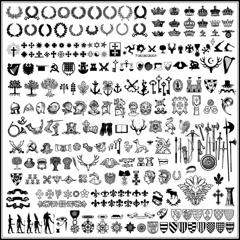 heraldyczni projektów elementy ilustracji