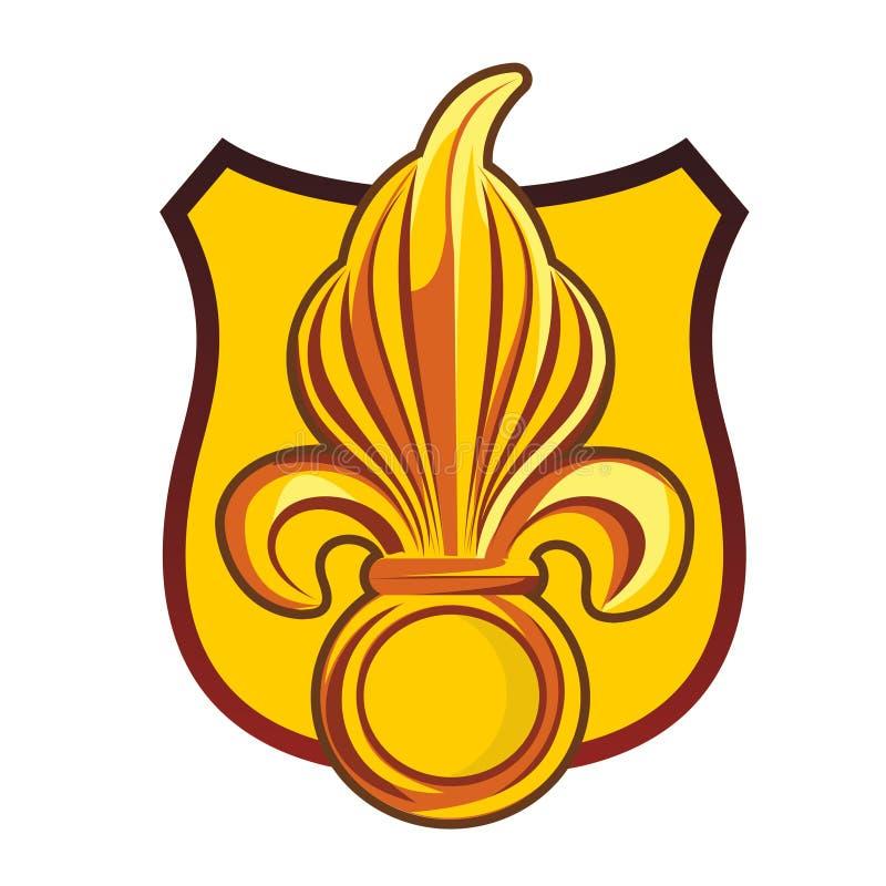 heraldyczny symbol lis royalty ilustracja