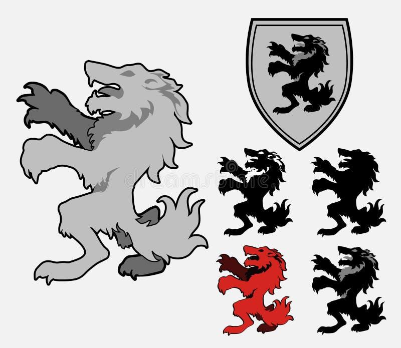 heraldyczny wilk ilustracji