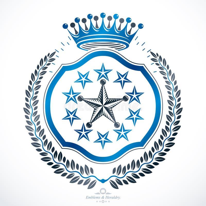 Heraldyczny znak, element, heraldyka emblemat, insygnia, znak, wektor ilustracja wektor