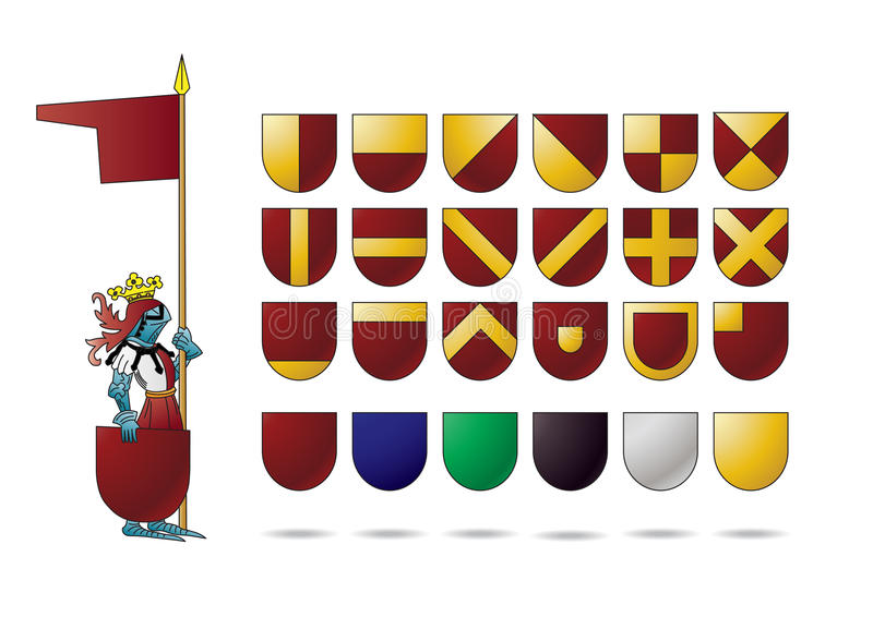 heraldyki rycerza osłona ilustracji