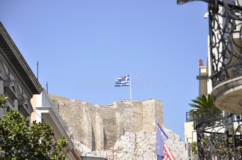 Herança arqueológico da acrópole de Atenas em Grécia fotos de stock royalty free
