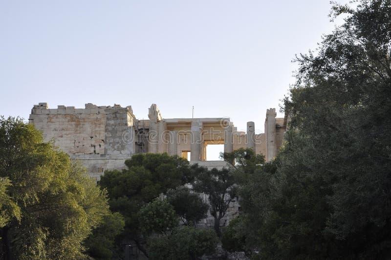 Herança arqueológico da acrópole de Atenas em Grécia fotografia de stock royalty free