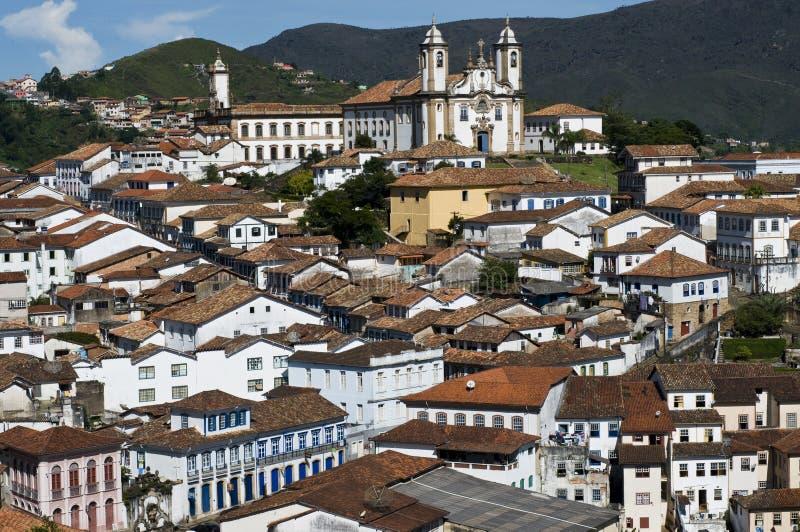Herança barroca brasileira da arquitetura imagens de stock
