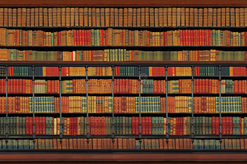 Herança cultural - biblioteca do vintage fotografia de stock royalty free