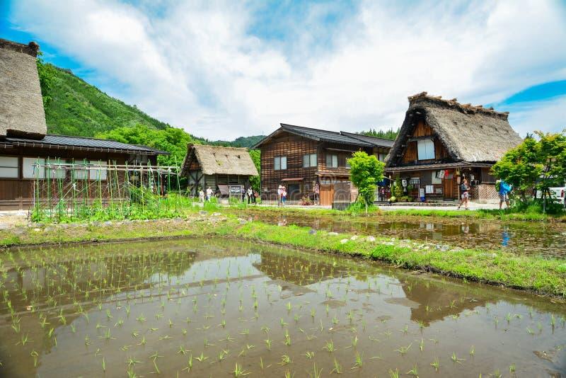 Herança de Shirakawa fotografia de stock royalty free