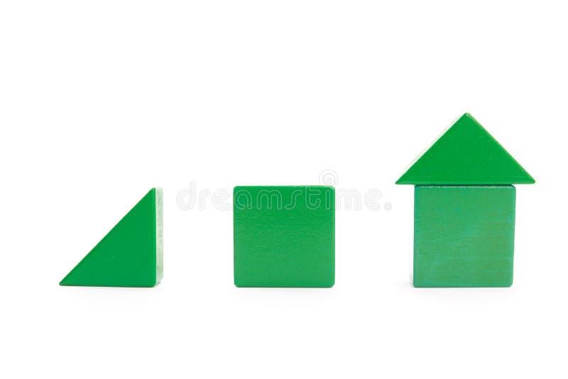 Herauf die Tendenz gemacht von den grünen Blöcken lizenzfreies stockbild