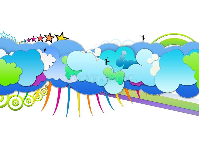 Herauf in die Wolken vektor abbildung