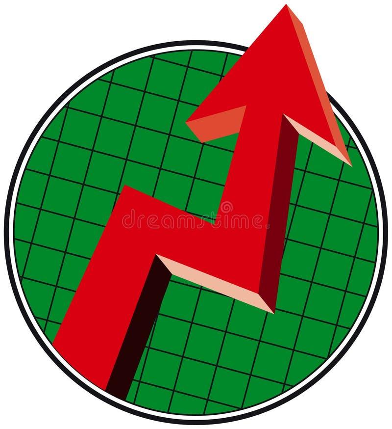 Herauf Tendenz-Pfeil vektor abbildung