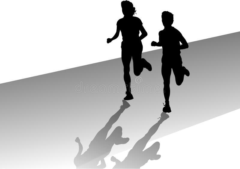 Heraus für einen Lack-Läufer lizenzfreie abbildung