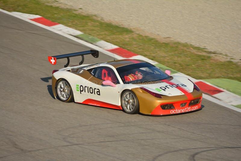 Herausforderung Evo 2016 Bjorn Grossman Ferraris 458 stockfotos