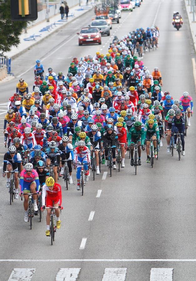 HERAUSFORDERUNG Mallorca Radfahrenpalma Stadiumsvertikale stockfotografie